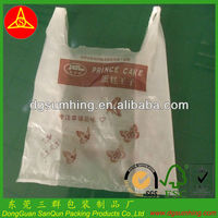supermarket shopping bag PO plastic bag,vest bag