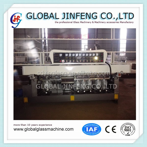 JFE10325 flat glass straight line edge grinding and polishing machine for window glass making