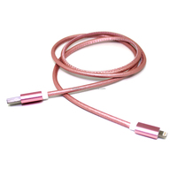 High speed Hotpink Magnetic 1m flat micro usb cable for HTC Samsung s3 s4 note2 smartphones