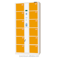 Good Quality Metal 12 Door Electronic Smart Barcode Storage supermarket Locker cabinet