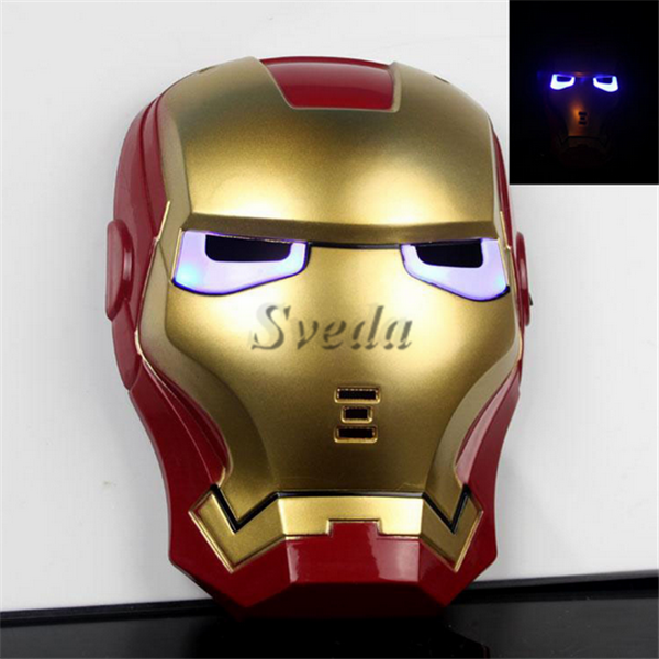 Hot selling Iron Man Cosplay mask Full face mask party mask for adult Cosplay Costume accessory