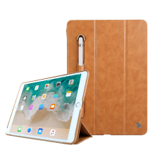 Chinese supplier high quality leather cases for ipad pro 10.5inch with pencil holder