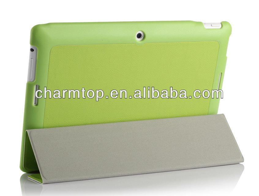 3 Folders Leather Case For Asus Memo Pad FHD 10 ME302C