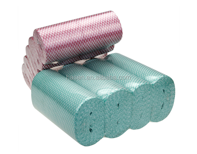 China supplier in Guangzhou best price multi-purpose wholesale chemical bonding nonwoven clean cloth in perforated roll