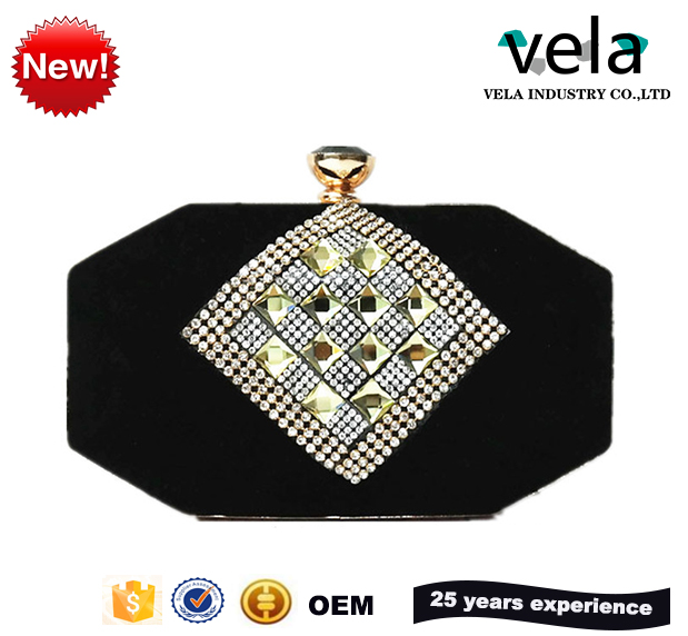 2017 New Fashion Diamond Beaded Velvet Evening Bag Lady Clutch For Women Wholesale And Oem China Purse Lady