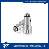 OEM factory 5V 2.1A qc3.0 car charger aluminum ally ce,ross,fcc