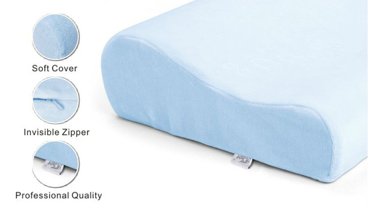 Contour Memory Foam Indoor Bed Cervical Neck Support Ice Gel Cooling Pillow