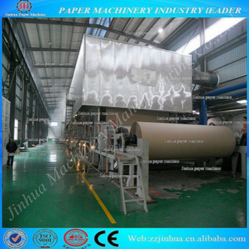ISO 3200mm rice straw/ bagasse/ bamboo pulp corrugated box paper machine,carton recycled paper making machine