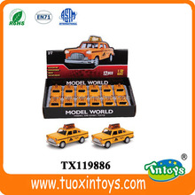 1:32 scale diecast open door toy car/toy yellow taxi