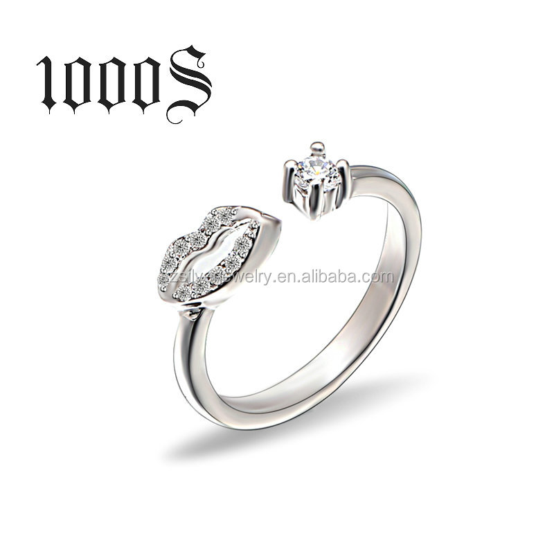 925 Silver lips Ring, New Design Opening End Ring