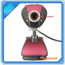 High Definition Driver Digital USB PC Camera Red (C00497)