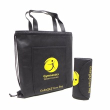 reusable non woven foldable shopping bag,foldable drawstring tote bag