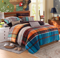 Cheap plaid comforter cover sets low MOQ Bedding set