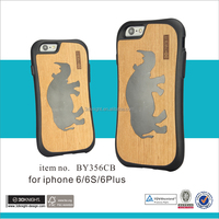 New hot selling products TPU PC phone case wooden case for iphone