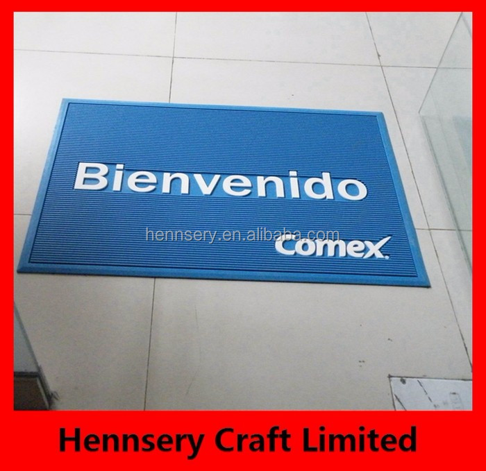 2017 trend hot sale OEM logo mat for floor