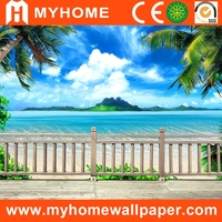 3d wall covering plastic wall mural wallpaper