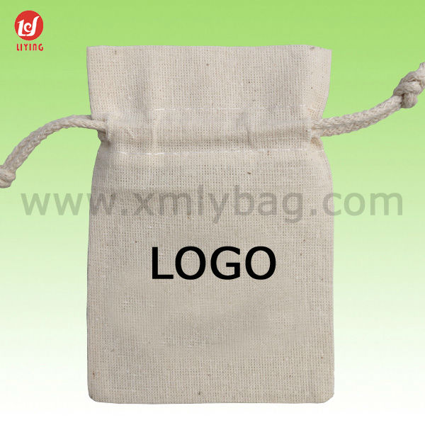 Durable Drawstring Cotton Sack Bag for Seed