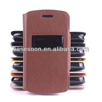 Mobile Phone Wallet Leather case for Nokia Asha 302 3020 Pattern With Stand with caller ID display function