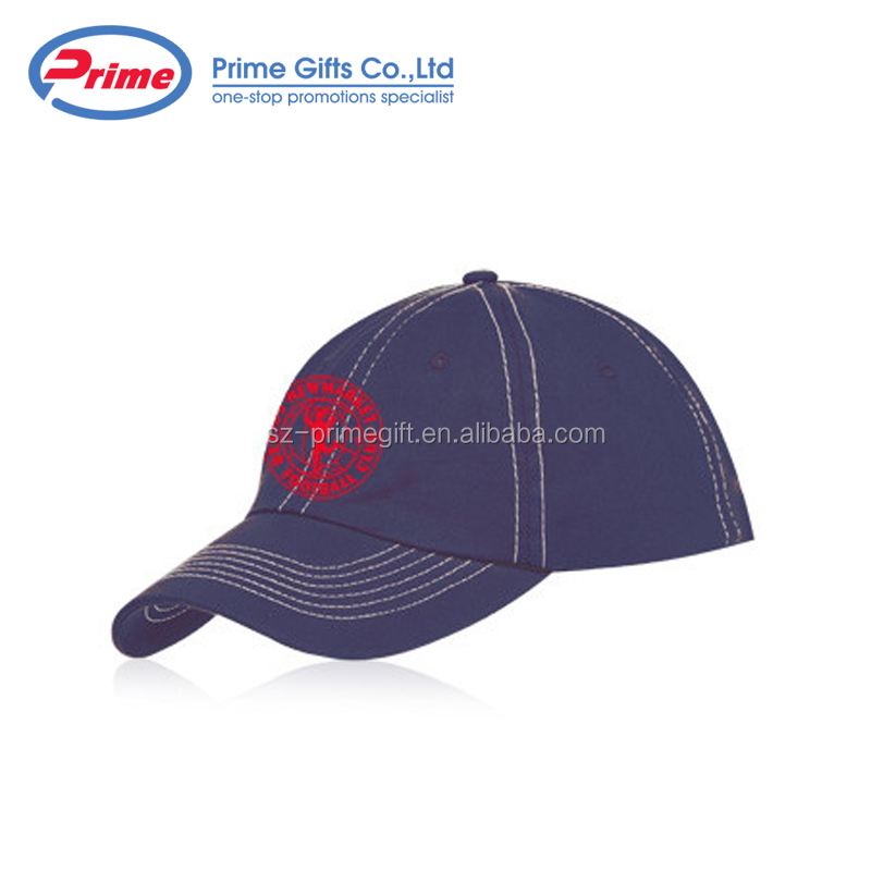 6 Panel Unconstructed Retro Voorzien Promotionele Logo Gedrukt Custom Baseball Cap