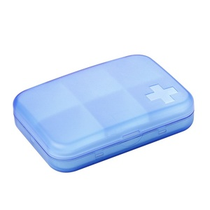 plastic wholesale smart travel super september cute portable square mens packaging 6 part pill box