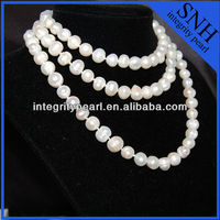 White color freshwater pearl necklace