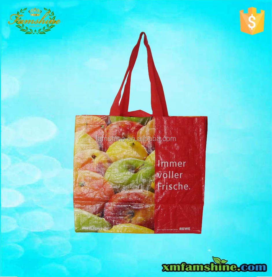 wholesale laminated pp woven shopping bag