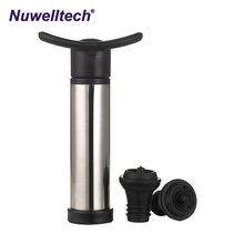 Fancy personalized red wine stopper wedding return gifts plastic vacuum Fresh pump bottle stoppers
