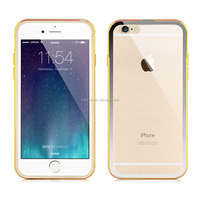 Ultra Thin Luxury Aluminium Metal Bumper Frame with Transparent Clear PC Hard Back Case for Apple iPhone 6 6Plus