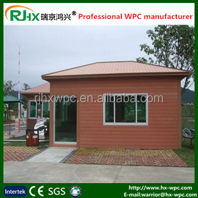 Durable wood plastic composite wall panel for outdoor wooden prefbab house
