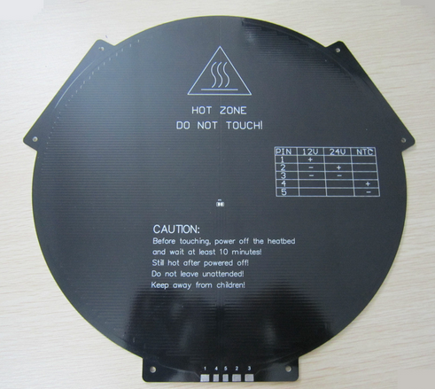 3D printing table PCB MK3 heat bed Delta rostock round with ears hot bed aluminium bed reprap table good durability print bed