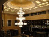 Large hotel lobby chandelier crystal made in china lights