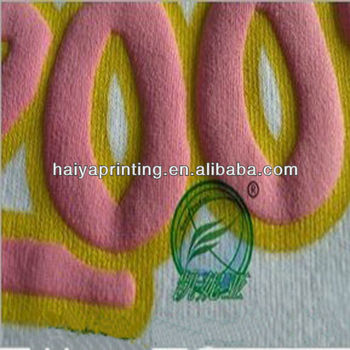Textile screen printing puff rubber paste resin