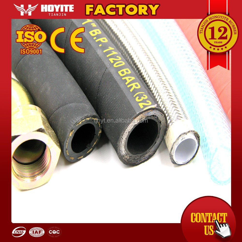 High quality abrasion resistant hydraulic rubber oil hose