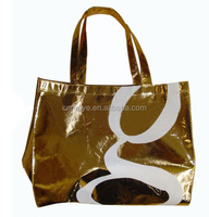 best quality gold laminated pp nonwoven shopping bag