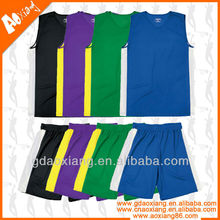 New style fast dry breathable basketball tops and pants
