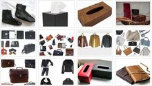 Leather items, textiles, shoes, jackets, purses, wallets