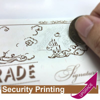 Hong Kong Manufacture Special Ink Security Coupon