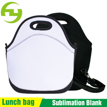 Custom Printed Sublimation Blank insulated Neoprene cooler Lunch Bag for Kids