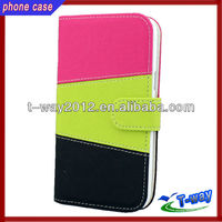 2013 New arrival book style leather case for galaxy note