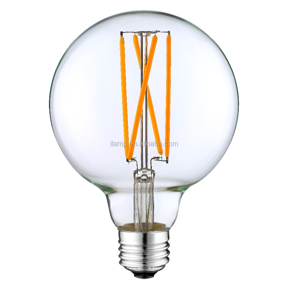220V 110v E27/E26/B22 G95 G125 blonde led bulb led filament lamp