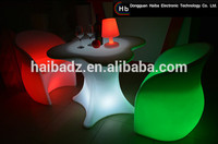 bar chair plastic clear/lumilux plastic led furniture/Patio Furniture led furniture company china