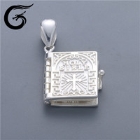 Holy Bible book can opened of silver 925 jewelry for Holy Bible pendant