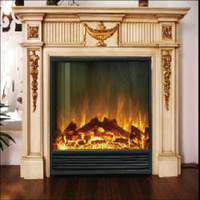 High Quality Wooden Fireplace Hand Carved Wood Buring Fireplace