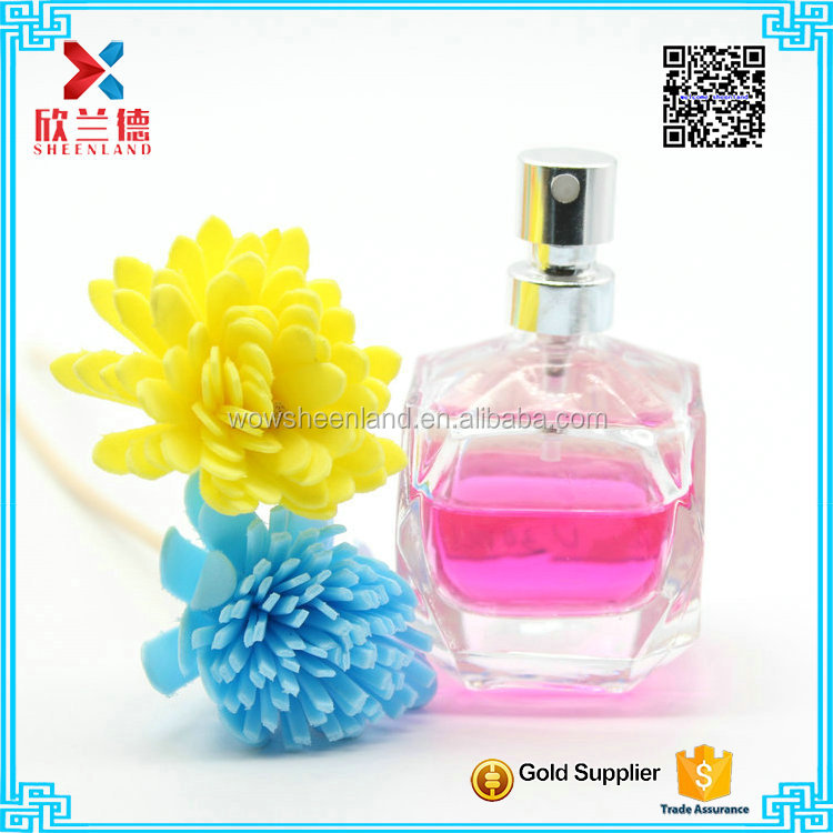 WHOLESALE 30ml crystal diamond shaped glass cosmetics packaging spray perfume bottle