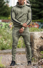 Olive green100%polyester brand cheap tracksuit mens sport trainning tracksuit made in China