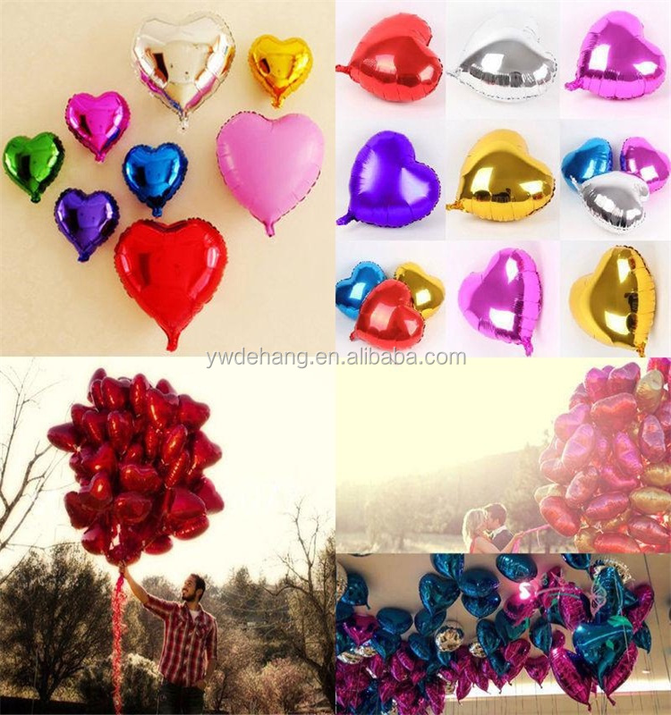 Love Heart-shaped Foil Balloons for Party Decoration