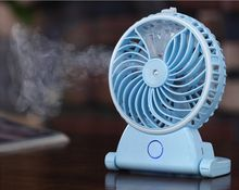 USB rechargeable portable water spray cooling fan water mist fan