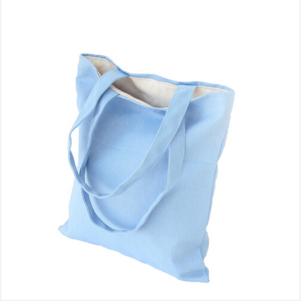 custom high quality printable canvas cotton bag for shopping