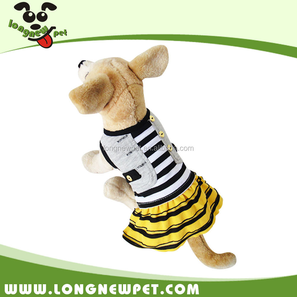 New Style Stripe Dog Dresses Cat Clothes Apparels for Puppies