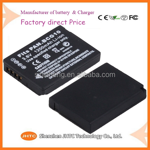 Flat lithium battery / Replacement parts camera pack lithium battery DMW-BCG10 for DMW-BCG10E DMC-ZS1 ZS10 ZS5 ZS7 TZ7 ZR1